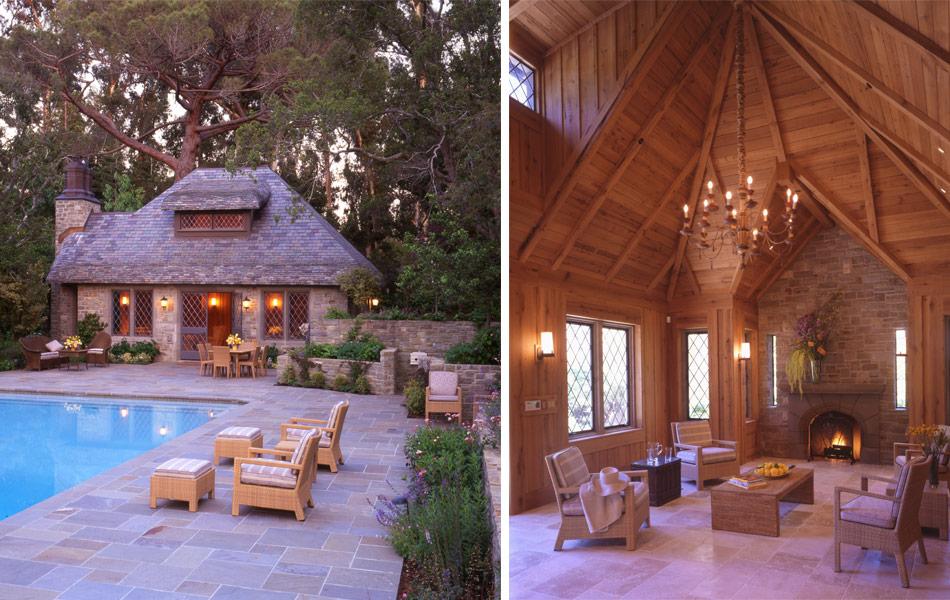 pool-house-facade-interior-fireplace-hillsborough